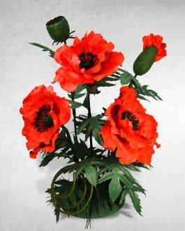 Маки. Ростовые цветы из фоамирана