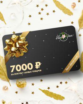 Подарочный сертификат на 7000 руб.
