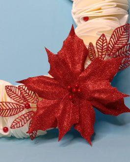 Рождественский венок красный