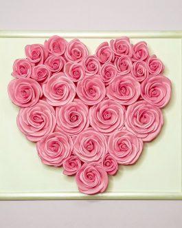 3D картина «Цветочное сердце»