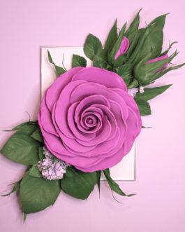 3д картина на стену «Роза»